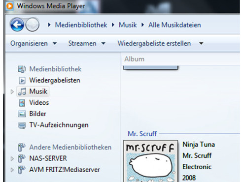 Per PC mit dem Windows Media Player ©COMPUTER BILD