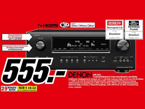 Denon AVR-2312 ©Media Markt
