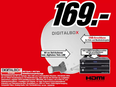 Digital Box Basic L 802 Twin ©Media Markt