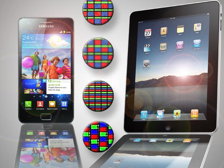 smartphone und tablet display vergleich von lcd und. Black Bedroom Furniture Sets. Home Design Ideas