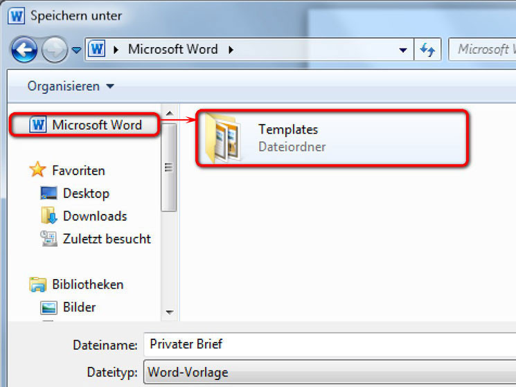 Word-Vorlagen richtig speichern - Bilder, Screenshots - COMPUTER BILD