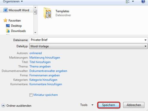 Word Vorlagen Richtig Speichern Bilder Screenshots Computer Bild