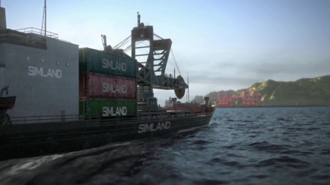 Simulation Sim City: Containerschiff © Electronic Arts