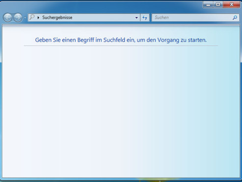 Suchfenster unter Windows © Microsoft