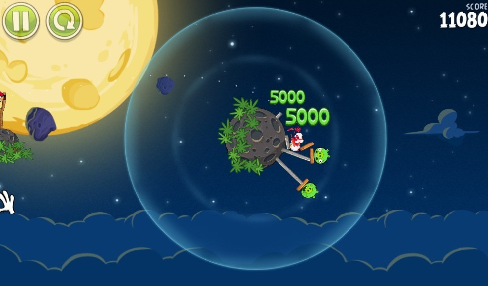 Screenshot 1 - Angry Birds Space