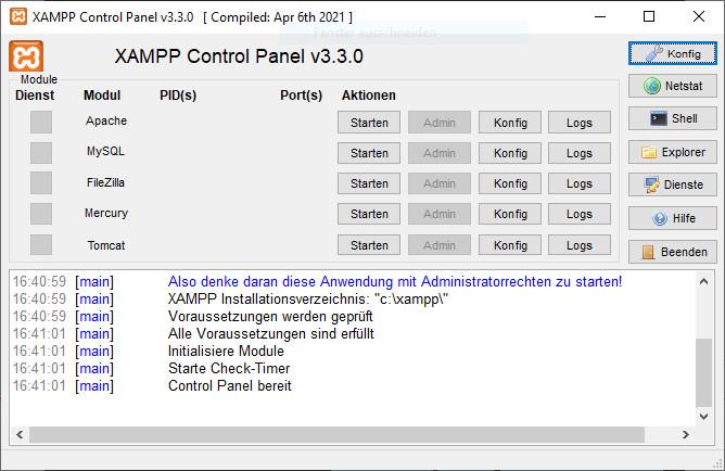 Screenshot 1 - XAMPP Portable