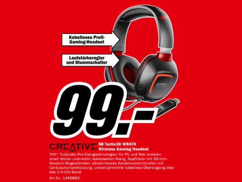 CREATIVE Sound Headset SB Tactic3D ©Media Markt