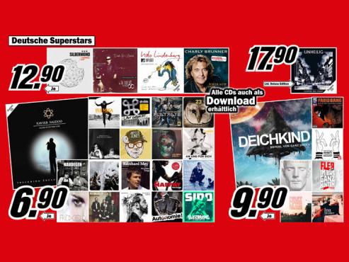 Diverse CDs ©Media Markt