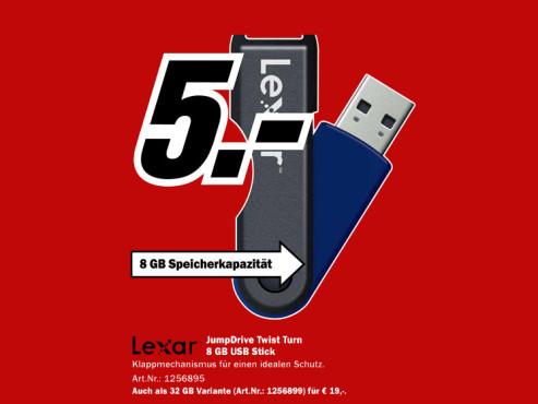Lexar JumpDrive TwistTurn 8GB ©Media Markt