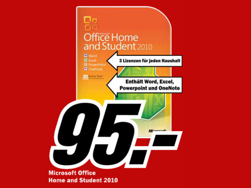 Microsoft Office 2010 Home And Student ©Media Markt