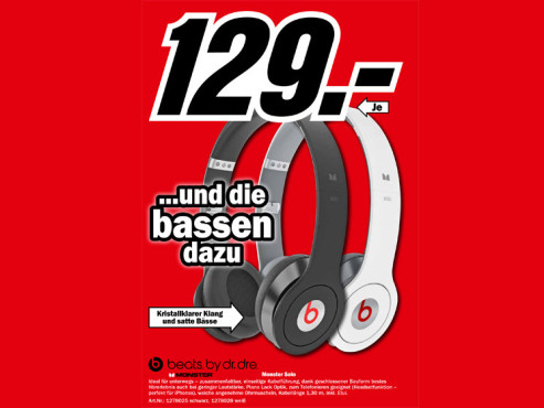 Monster Beats Solo by Dr. Dre with Control Talk ©Media Markt