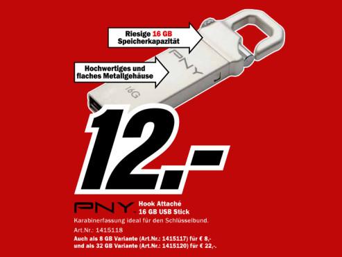 PNY Attaché Hook 16GB ©Media Markt