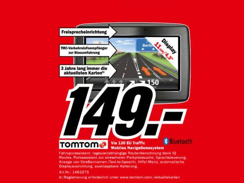 TomTom Via 120 Central Europe Traffic ©Media Markt