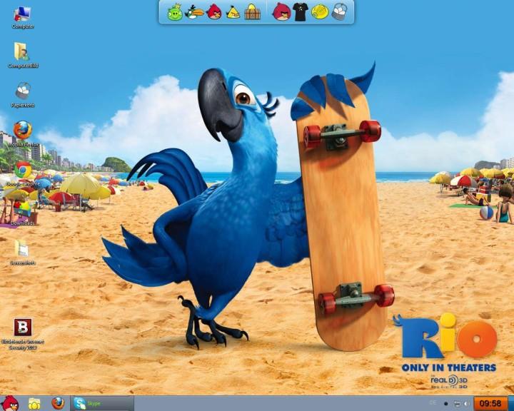 Screenshot 1 - Angry Birds Skin Pack (32 Bit)