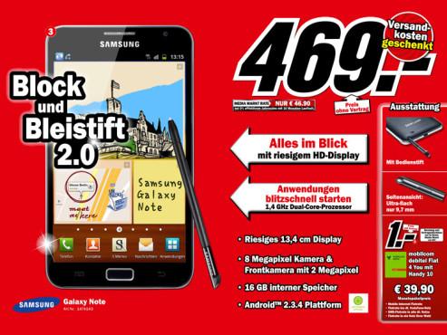 Samsung Galaxy Note ©Media Markt