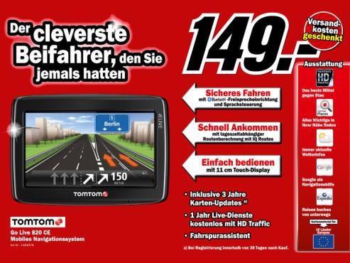 TomTom Go Live 820 Central Europe ©Media Markt