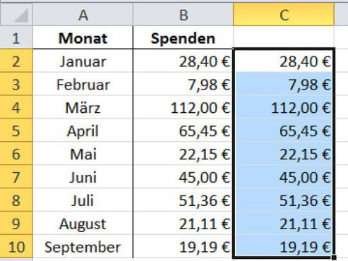 Schritt 3 ©Microsoft Excel 2010