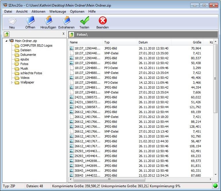 Screenshot 1 - IZArc2Go