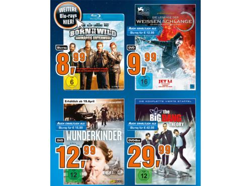Diverse Blu-rays und DVDs ©Saturn