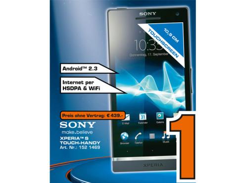 Sony Xperia S ©Saturn
