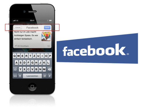 Volle Facebook-Integration © Apple, Facebook