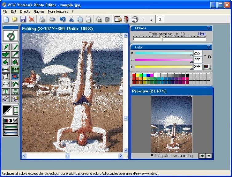Screenshot 1 - VCW VicMan's Photo Editor