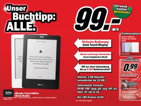 Kobo eReader Touch ©Media Markt
