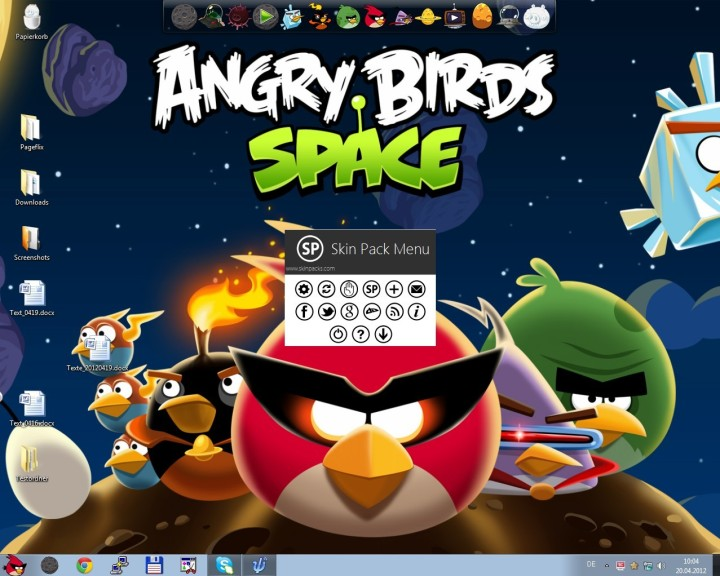 Screenshot 1 - Angry Birds Space Skin Pack (32 Bit)