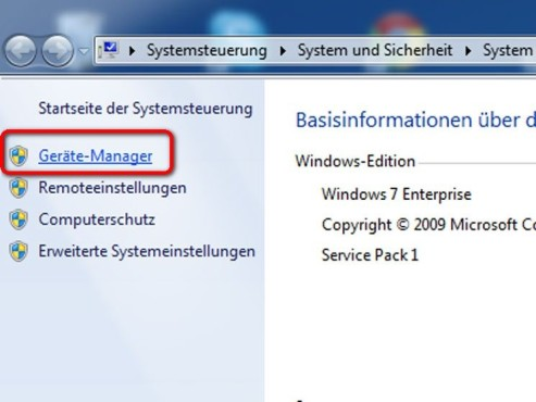 Geräte-Manager © Microsoft