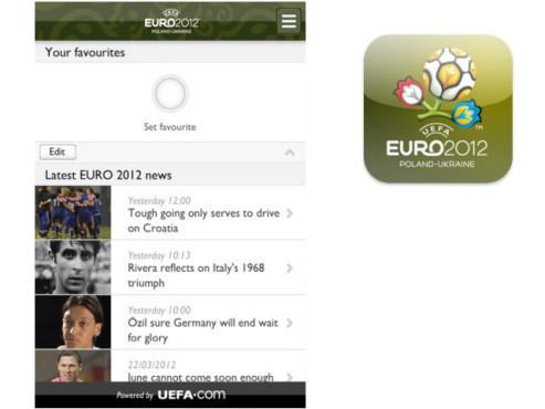 Offizielle Uefa Euro 2012 App ©Uefa