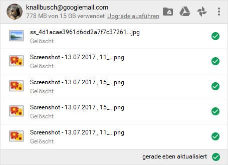 Screenshot 1 - Google Backup & Sync (Google Sicherung & Synchronisation)