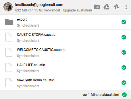 Screenshot 1 - Google Backup & Sync (Google Sicherung & Synchronisation) (Mac)