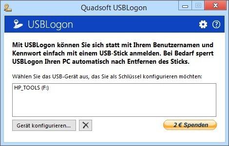 Screenshot 1 - USBLogon