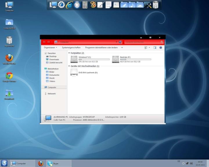 Screenshot 1 - KDE Skin Pack (64 Bit)