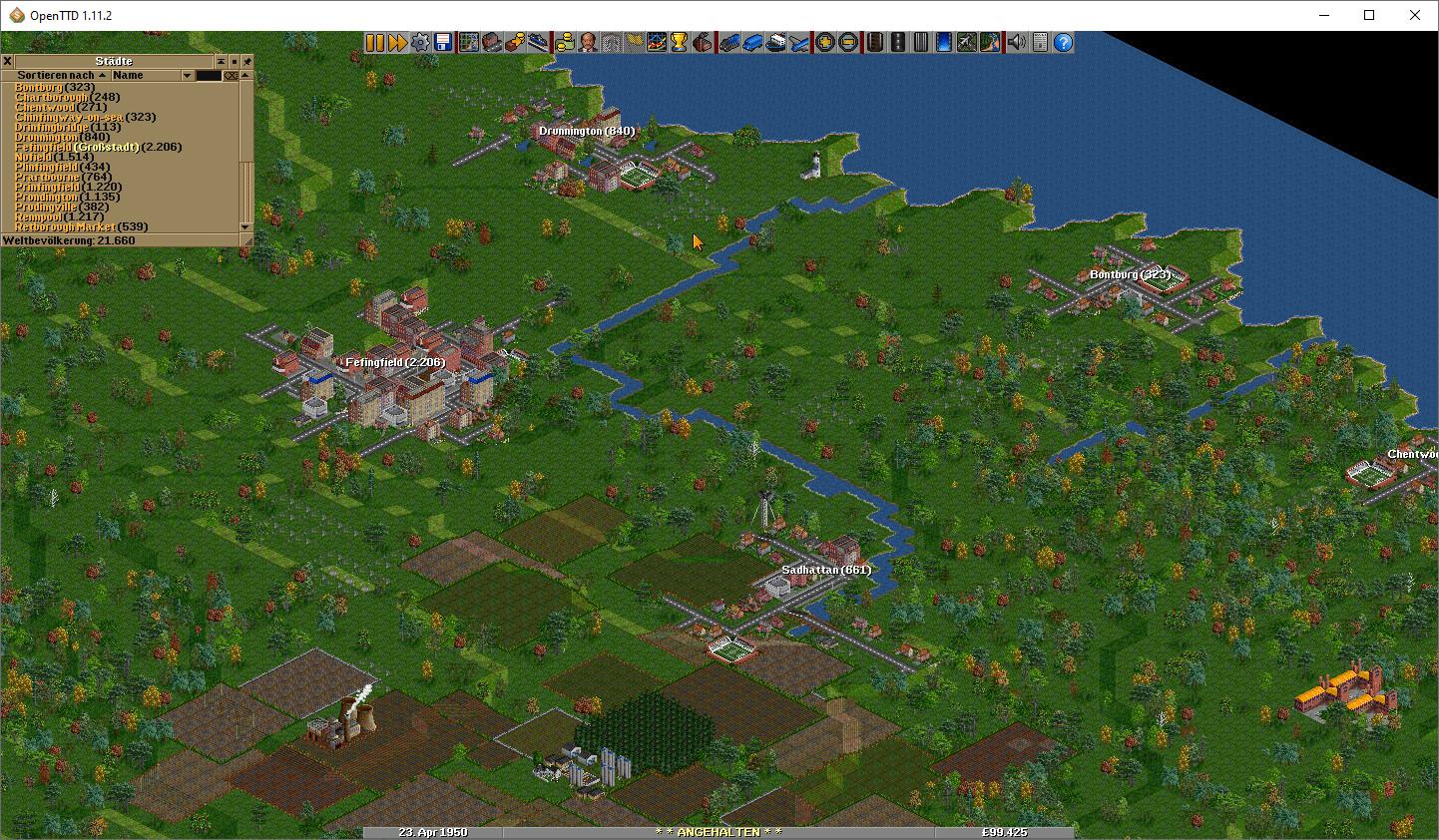 Screenshot 1 - OpenTTD Portable