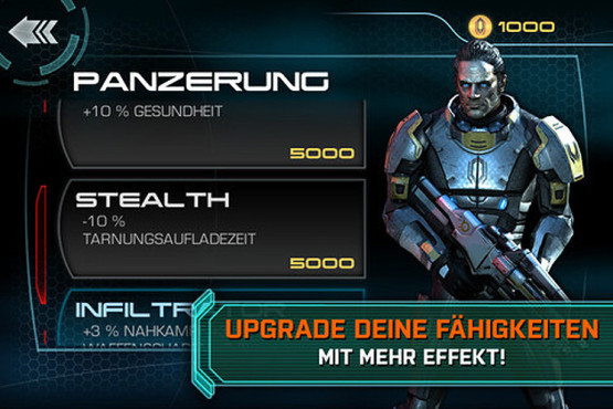 Actionspiel Mass Effect – Infiltrator: Upgrade ©Electronic Arts
