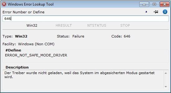 Screenshot 1 - Windows Error Lookup Tool
