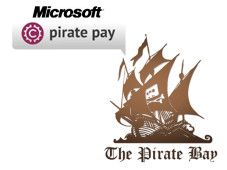 Pirate Pay sagt illegalen Downloads den Kampf an.©Microsoft / Pirate Pay / Pirate Bay