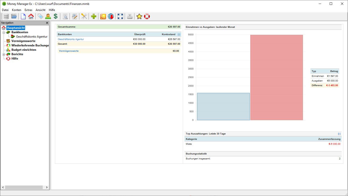 Screenshot 1 - Money Manager Ex Portable