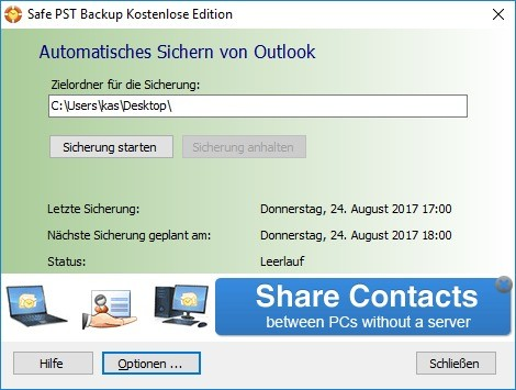 Screenshot 1 - Safe PST Backup
