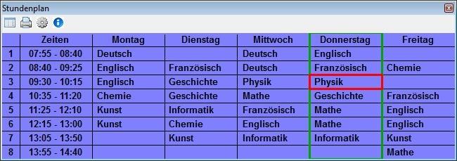 Screenshot 1 - Stundenplan