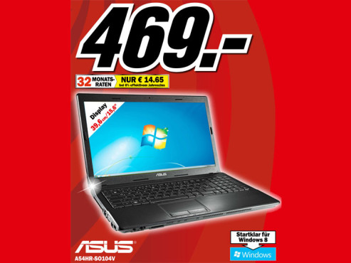 Asus A54HR-SO104V © Media Markt