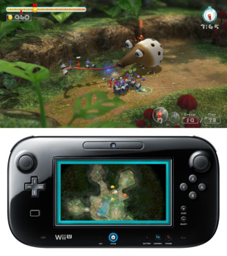 Strategiespiel Pikmin 3: Gamepad © Nintendo