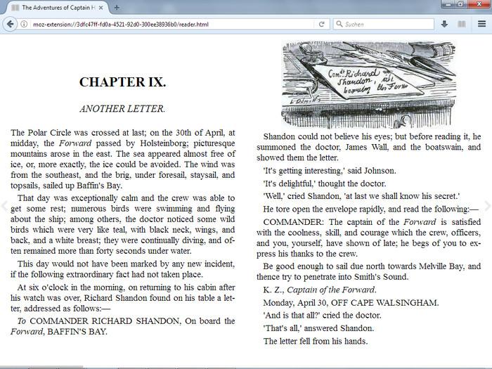 Screenshot 1 - ePubReader für Firefox