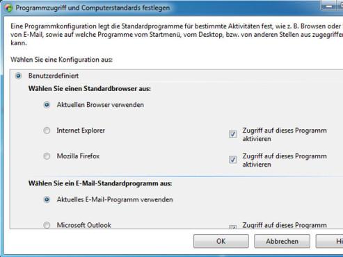 Standardsoftware auswählen ©Microsoft