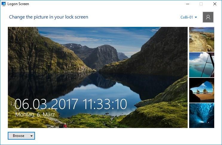Screenshot 1 - Logon Screen