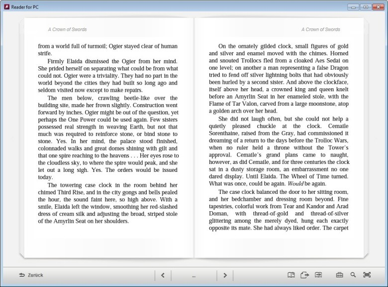 Screenshot 1 - Reader for PC
