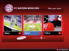 FC Bayern München App auf dem Samsung UE46ES6100©COMPUTER BILD