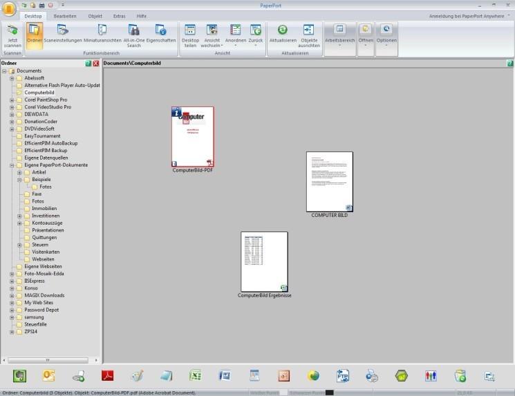 Screenshot 1 - PaperPort Professional