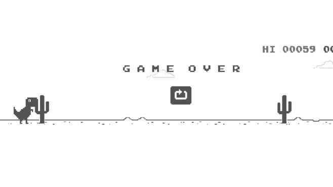Dinosaurier-Spiel in Google Chrome ©COMPUTER BILD